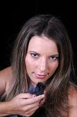 Güzel genç kadın portre — Stok fotoğraf
