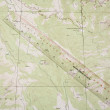 Topo Map and ruler — Stock Photo