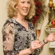 Woman enjoying California Sparkling wine — Stock Photo
