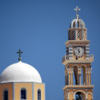 Clock and bell tower on the greek island of Santorini — Stock Photo #11028076