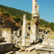 Stock Photo: Columns in the historical ancient Roman city of Ephesus in Turkey
