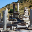 Columns in the historical ancient Roman city of Ephesus in Turkey — Stock Photo #11028206