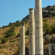 Columns in the historical ancient Roman city of Ephesus in Turkey — Stock Photo #11028215