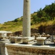 Columns in the historical ancient Roman city of Ephesus in Turkey — Stock Photo #11028220