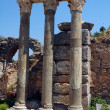 Columns in the historical ancient Roman city of Ephesus in Turkey — Stock Photo #11028252