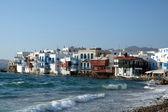 Little Venice on the Greek island of Mykonos — Stock Photo