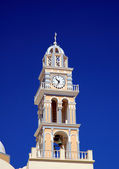 Church clock tower on Santorini — Stock Photo