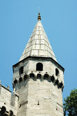 Octagonal spired tower in Istanbul, Turkey — Foto Stock