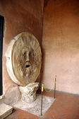 Bocca di Verita or mouth of truth in Roma, a fabled stone artifact — Stock Photo