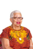 Closeup of elderly African American Woman — Stock Photo