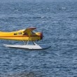 Seaplane coming in to land — Stock Photo