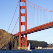 Stock Photo: Golden gate bridge from Pacific ocean