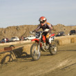 Stock Photo: Dirt bike racer