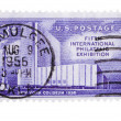 Vintage US postage stamps - Stock Photo