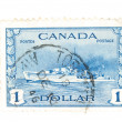 Vintage Canadian postage stamps — Stock Photo