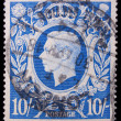 Vintage Great Britain postage stamp — Stok fotoğraf