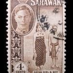 Vintage Sarawak postage stamp — Stock Photo #11035735