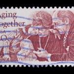 Vintage US commemorative postage stamp — Stock Photo #11035785