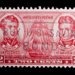 Stock Photo: Vintage US Navy commemorative postage stamp