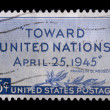 Vintage US commemorative postage stamp - Stock Photo