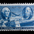 Vintage US commemorative postage stamps — Stock Photo #11036015