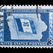 Vintage US commemorative postage stamp - 图库照片