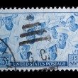 Vintage US commemorative postage stamp — Stock Photo #11036069