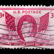 Stock Photo: Vintage US commemorative postage stamp-Francis Scott Key