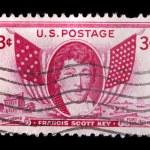 Vintage US commemorative postage stamp-Francis Scott Key — Stock Photo