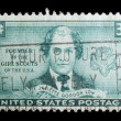 Vintage US commemorative postage stamps — Stock Photo
