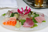 Sashimi on a plate — Foto Stock