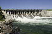 Dam in a river — Stock Photo