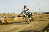 Dirt bike racer — Stok fotoğraf