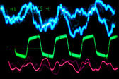 Oscilloscope traces — Stock Photo