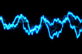 Oscilloscope trace to music — Stock Photo
