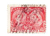 Timbres-poste colonie anglais Vintage — Photo