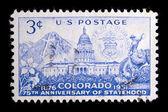 Annata ci francobollo commemorativo — Foto Stock