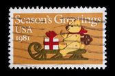 Ročník nás pamětní poštovní známka — Stock fotografie