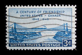 Vintage oss jubileums frimärke — Stockfoto
