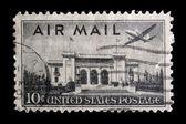 Vintage US commemorative postage stamp — ストック写真
