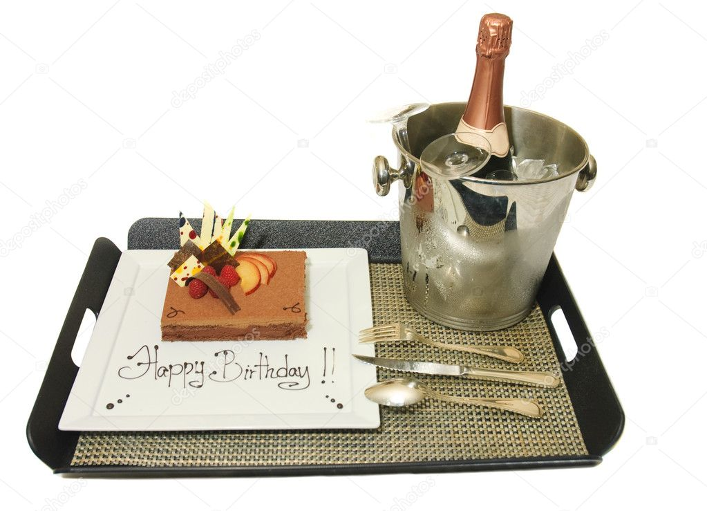 Birthday mousse and Champagne  Stock Photo #11036277