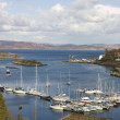Tarbert harbor and ferry — Stock Photo