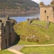 Castle at Loch Ness in Scotland - Stock Photo