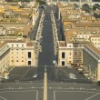 Stock Photo: View from the top of the Vatican