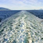 Wake of cruise ship — Stock Photo