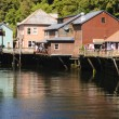 Creek street, Ketchikan — Stock Photo