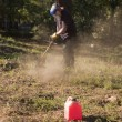 Stock Photo: Gardener with gas