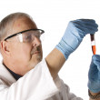Doctor looking at plasma — Stock Photo