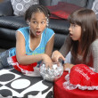 Cute african american girl with caucasian girl freind - Photo