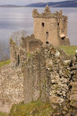 Ruins of Urquhart Castle at Loch Ness in Scotland — Stock Photo